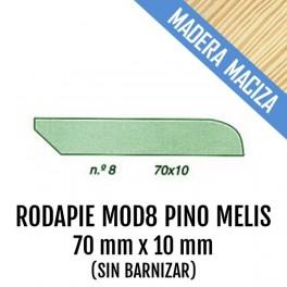 RODAPIE MADERA MACIZA MOD-8 70x10 mm PINO MELIS 2550mm