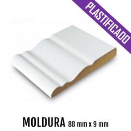 MOLDURA MDF PLASTIFICADO 88 mm * 9 mm  2550 mm