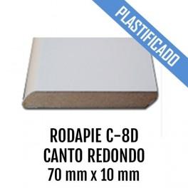 RODAPIE MDF PLASTIFICADO C-8D CANTO REDONDO 70x10mm 2440 mm