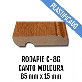 RODAPIE MDF PLASTIFICADO C-8G CANTO MOLDURA 85x15mm 2440 mm