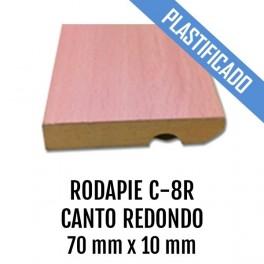 RODAPIE MDF PLASTIFICADO C-8R CANTO RECTO 87x15mm 2440 mm