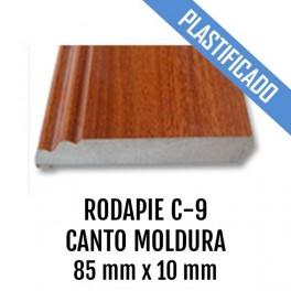 RODAPIE MDF PLASTIFICADO C-9 CANTO MOLDURA 90x10mm 2440 mm