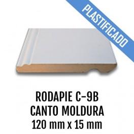 RODAPIE MDF PLASTIFICADO C-9B CANTO MOLDURA 120x15mm 2440 mm