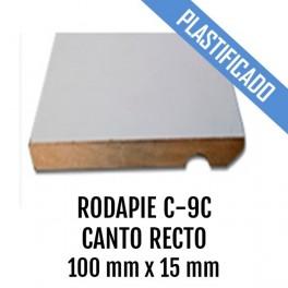 RODAPIE MDF PLASTIFICADO C-9C CANTO RECTO 100x15mm 2440 mm