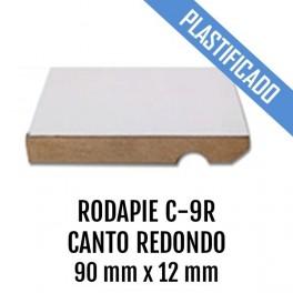RODAPIE MDF PLASTIFICADO C-9R CANTO REDONDO 90x12mm 2440 mm