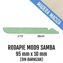RODAPIE MADERA MACIZA MOD-9 95x10 mm SAMBA 2550mm