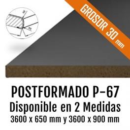 MOSTRADOR AGLOMERADO P-67 GROSOR 30mm