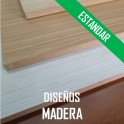 AGLOMERADO ESTANDAR PLASTIFICADO DISEÑOS MADERA 2440*1220 mm