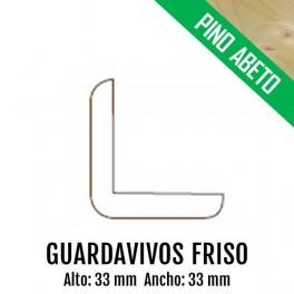 GUARDAVIVOS FRISO 33x33 PINO ABETO